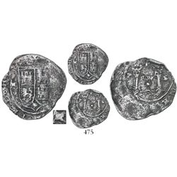 Lima, Peru, 1 real, Philip II, assayer X to left, extremely rare.