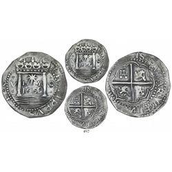 "Lima, Peru, cob 8 reales presentation strike, 1659V, ""Star of Lima"" type, mintmark LIMA (Series IA),"