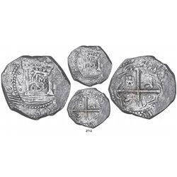 """Lima, Peru, cob 8 reales, 1659V, """"Star of Lima"""" type, mintmark LIMA (Series IA), rare, ex-Piedmont ("""