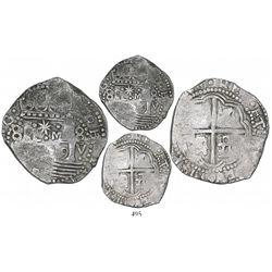 "Lima, Peru, cob 8 reales, 1659V, ""Star of Lima"" type, mintmark L-M (Series II), rare, Calbeto Plate"