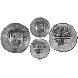 "Lima, Peru, cob 4 reales, 1659V, ""Star of Lima"" type, mintmark LIMA (Series IA), extremely rare, ex-"
