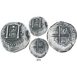 "Lima, Peru, cob 2 reales, 1659V, ""Star of Lima"" type, mintmark LIMA (Series IA), very rare, possibly"