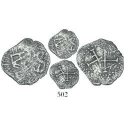 "Lima, Peru, cob 1/2 real, (1659), ""Star of Lima"" type, rare."