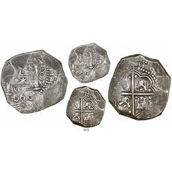 "Lima, Peru, cob 8 reales, 1660V, ""Star of Lima"" type (Series III), very rare."