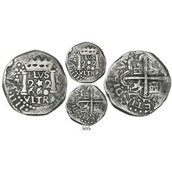 """Lima, Peru, cob 2 reales, 1660V, """"Star of Lima"""" type (Series III), extremely rare, finest known."""