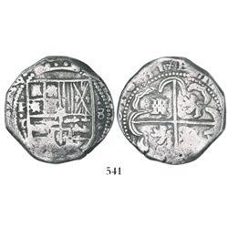 Potosi, Bolivia, cob 8 reales, 1631T.