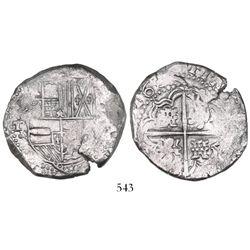 Potosi, Bolivia, cob 8 reales, 163(?)T.