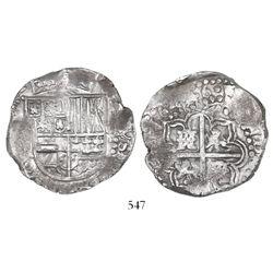 Potosi, Bolivia, cob 8 reales, 1646, assayer not visible.