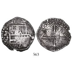 Potosi, Bolivia, cob 4 reales, (161)9T, very rare.