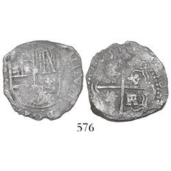 Potosi, Bolivia, cob 2 reales, (1)631T, very rare.