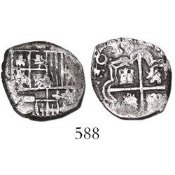 Potosi, Bolivia, cob 1 real, 1639, assayer not visible, very rare.
