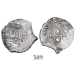 Potosi, Bolivia, cob 1 real, 1640, assayer not visible, very rare.