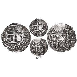 Potosi, Bolivia, cob 1 real Royal, 1729M, extremely rare.