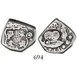 Guatemala, cob 2 reales, 1751(J).