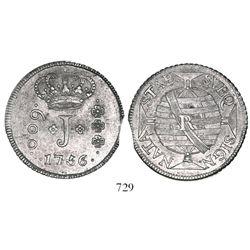 Brazil (Rio mint), 600 reis, Jose I, 1756-R.