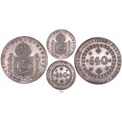 Brazil (Rio mint), 640 reis, Pedro I, 1825-R.