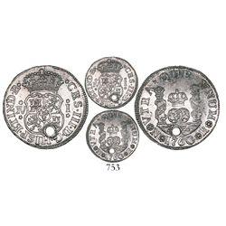 Bogota, Colombia, pillar 1 real, Charles III, 1760JV, ex-1770 Bogota hoard.