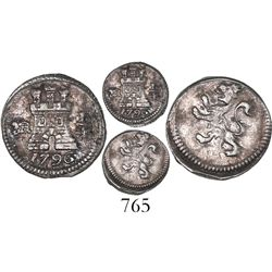 Bogota, Colombia, 1/4 real, 1796.