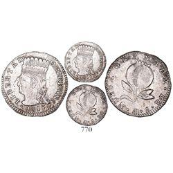 """Bogota, Colombia, 1 real, 1819JF, """"LIBERTAD AMERICANA,"""" denomination 1•R, very rare, Restrepo Plate"""