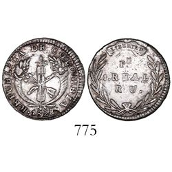 Popayan, Colombia, 1 real, 1828RU.