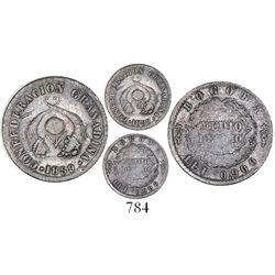 Bogota, Colombia, 1/2 decimo, 1859, very rare, ex-Fernandez collection.