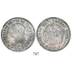 Popayan, Colombia, 5 decimos, 1873/69, rare.