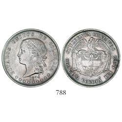 "Bogota, Colombia, 50 (""cincuenta"") centavos, 1874."