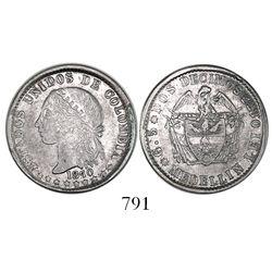 Medellin, Colombia, 2 decimos, 1870.