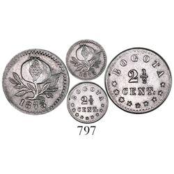 Bogota, Colombia, 2-1/2 centavos, 1873.