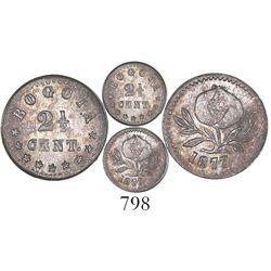 Bogota, Colombia, 2-1/2 centavos, 1877.