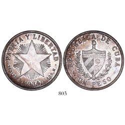 """Cuba, """"star"""" peso, 1934."""