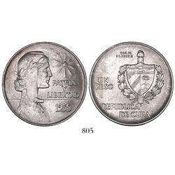 """Cuba, """"ABC"""" peso, 1935."""