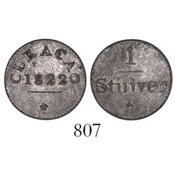 Curacao, Netherlands East Indies, billon 1 stuiver, 1822.