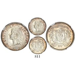 Dominican Republic, 10 centavos, 1944, encapsulated NGC MS 65, tied for finest known in NGC census.