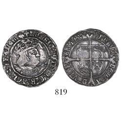 London, England, groat, Henry VIII (1509-1547).