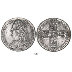 Great Britain (London, England), crown, George II, 1746, with LIMA below bust.