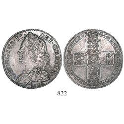 Great Britain (London, England), half crown, George II, 1746, with LIMA below bust.