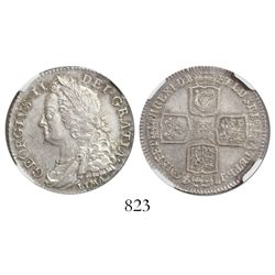 Great Britain (London, England), shilling, George II, 1746, with LIMA below bust of king, encapsulat