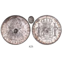 Great Britain (Bank of England), 1 dollar, oval countermark of George III (1797) on a Mexico City, M
