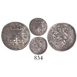 Guatemala, 1/4 real, 1801.