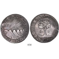 Guatemala (Central American Republic), 8 reales, 1826M, rare variety with CRES/ZCA.