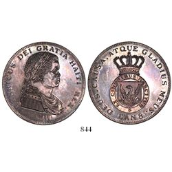 Haiti, 1 crown, Henri, 1811 / L'an 8, proof pattern restrike (modern), plain edge.