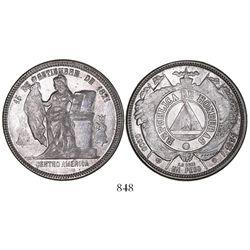 Honduras, 1 peso, 1891/88.