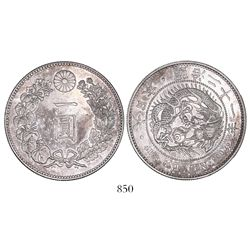 Japan, 1 yen, emperor Mutsuhito (1867-1912), Meiji year 21 (1888).