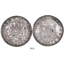 Mexico City, Mexico, pillar 8 reales, Charles III, 1771FM, with chopmarks as from circulation in the