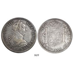 Mexico City, Mexico, bust 8 reales, Charles III, 1773FM, initials facing rim, encapsulated PCGS Genu