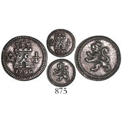 Mexico City, Mexico, 1/4 real, 1796.