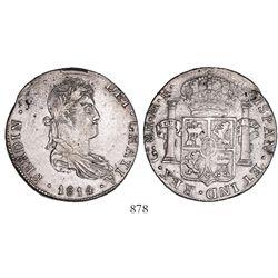 Guadalajara, Mexico, bust 8 reales, Ferdinand VII, 1814MR.