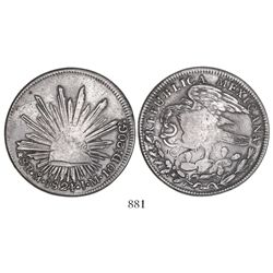"Mexico City, Mexico, ""hookneck"" 8 reales, 1824JM."