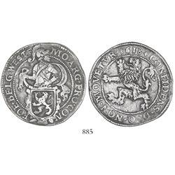 "Westfriesland, United Netherlands, ""lion"" daalder, 1618."